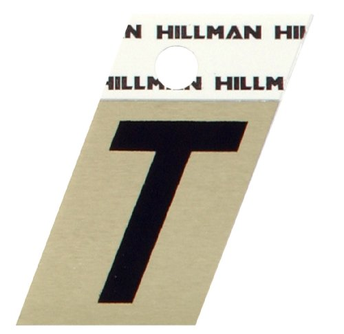 The Hillman Group 840532 1-1/2-Inch Aluminum Angle-Cut Letter T (Gold Anodized Aluminum Angle)