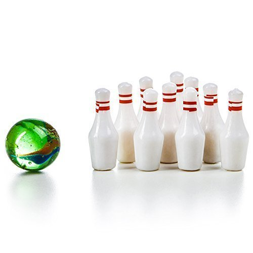 Miniature Bowling Game Set -24 Pack Deluxe - for Kids, Playing, Party, Fun, Boys, Girls, Bowlers Etc.- Kidsco by Kicko (Image #1)