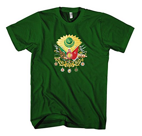 Ottoman Empire Country Seal Flag Forest Green Cotton Adult Unisex T-shirt Tee Top Xl