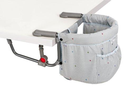 Safety 1st 27285450 Smart Lunch - Praktischer Tischsitz für zuhause und unterwegs, Grey chic