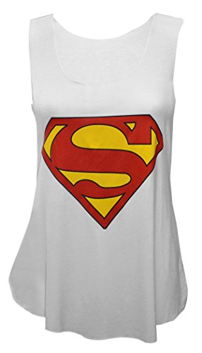 Superman+tank+tops Products : MyMixTrendz - Womens Superman Batman Crop Top Tie Up Vest