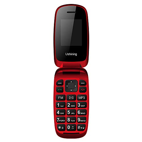 (Ushining Unlocked GSM 2G Flip Phone Dual SIM Dual Standby only for The Carrier T-Mobile -)