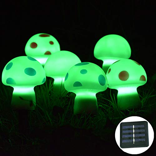 Outdoor Light Up Mushrooms