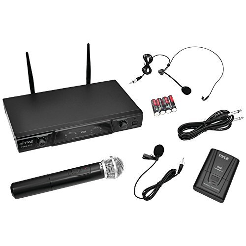 PYLE PRO PDWM2115 VHF Wireless Microphone Receiver System with Independent Volume Control Home, garden & (Vhf Receivers)