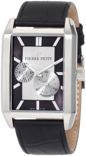 Pierre Petit Men's P-782A Serie Paris Automatic Rectangular Case Genuine Leather Watch