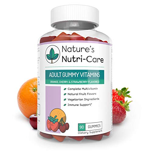 Nature's Nutri-Care Adult Gummy Vitamins – 90 Gummies – Vegetarian Gummy Multivitamin – Essential Vitamins, Antioxidants, and Minerals – Made in USA