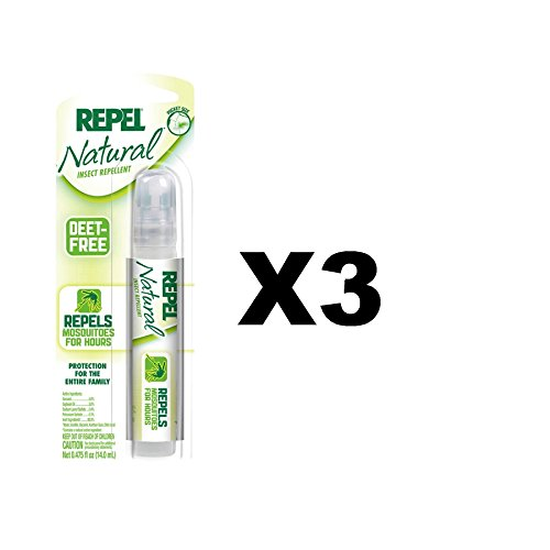 [Repel 94114 Natural Insect Repellent 0.475-Ounce Pen Size Pump Spray (3 Pack)] (Natural Jungle Gym)