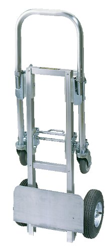 "Wesco Industrial Products 220615 Aluminum Mini Cobra Convertible Hand Truck, 8"" Pneumatic Wheel, 8-1/4"" x 32-1/4"" Frame, 500 Pound Load Capacity, 15"" Width x 32-1/2"" Height x 16"" Depth from Wesco"