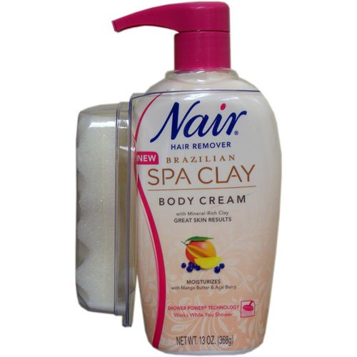 Nair Brazilian Spa Clay Body Cream, 13 Ounce (Pack of 6)