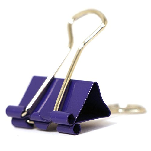 JAM Paper® Binder Clips - Small (3/4 inch / 19 mm) - Purple