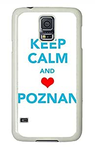 K Keep Calm And Poznan PC White Hard Case Cover Skin For Samsung Galaxy S5 I9600