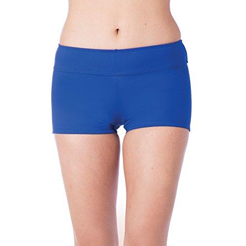 (Chaps Women's Boy Short Bikini Swimsuit Bottom, Ocean,)