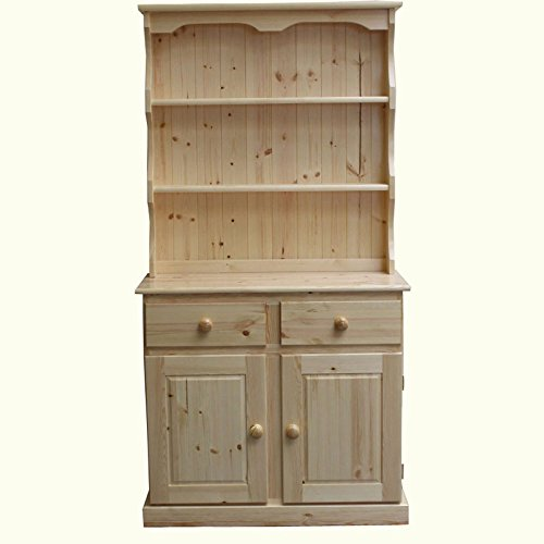 Stain Wax Finish Wye Valley Pine Farmhouse 3ft Welsh Dresser Natural