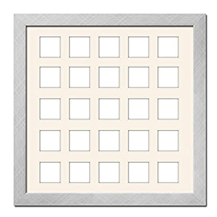 Amazon.com: Stainless Steel Matted Instagram Collage Photo Frame ...