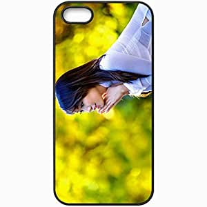 Personalized iPhone 5 5S Cell phone Case/Cover Skin Asian Brunette Shirt Black