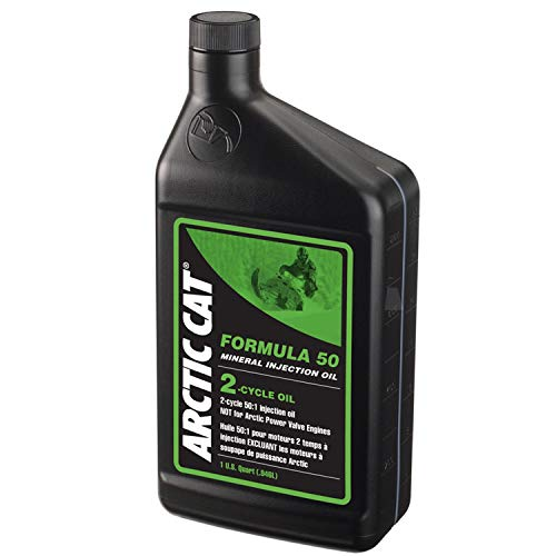 Arctic Cat OEM 2-Cycle Snowmobile Formula 50 Mineral Oil 32oz Quart 5639-475 ()