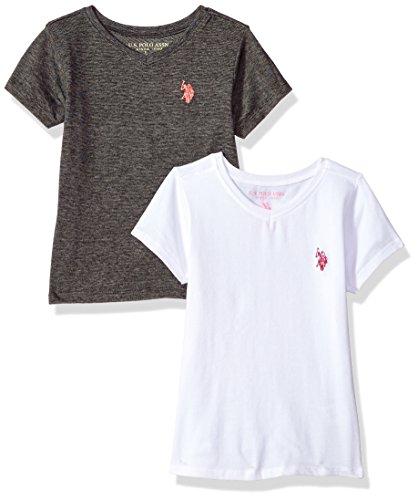 U.S. Polo Assn. Girls Little 2 Pack Short Sleeve T-Shirt