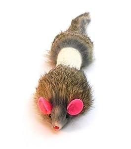 60%OFF Dat Darn Weasel Rabbit Fur Cat Toy
