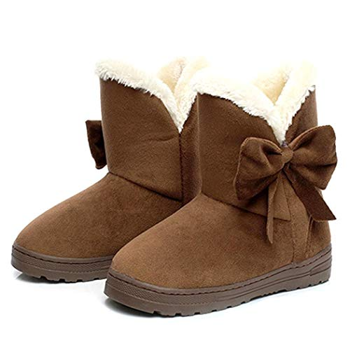 Adoeve Womens Short Tube Snow Cotton Boots Thicken Bottom Plus Velvet Warm Boots Snow Boots