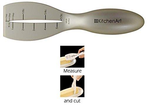 Champagne Satin Finish - KitchenArt Pro Measuring Butter Knife, Champagne Satin Finish