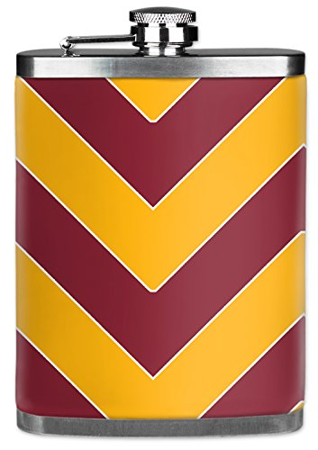Mugzie® brand 7 Oz Hip Flask with Insulated Wetsuit Cover - Washington Football Colors (Washington Redskins Stainless Steel Flask)