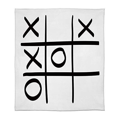 YOLIYANA Lightweight Blanket,Xo Decor,for Bed Couch Chair Fall Winter Spring Living Room,Size Throw/Twin/Queen/King,Tic Tac Toe Pattern Unfinished Game Hobby