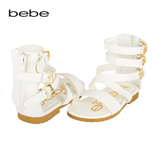 bebe-toddler-girl-gladiator-sandal-with-back-zipper-and-buckles-5-6-white