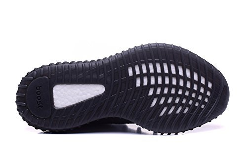Toosbuy Par Tillfälliga Man Kvinna Ventilerande Mesh 350 V2 Sport Sneakers Svart Vit