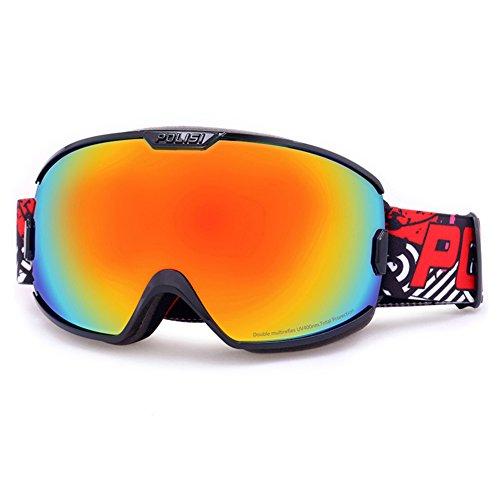 J ange Double Casque SE7VEN Lunettes Couche Lentille Compatible Brouillard Goggles Wide Neige Ultra Snowboard De Sphérique Anti tOarxOqn