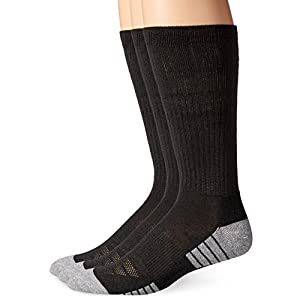 Under Armour Men's Heatgear Tech Crew Socks, Black, Large (3 Pair Pack)