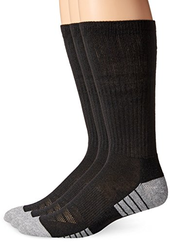 Under Armour Men's Heatgear Tech Crew Socks, Black, Medium (3 Pair Pack) Black 3 Pair Pack