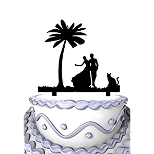 41numoC4myL._SS300_ Beach Wedding Cake Toppers & Nautical Cake Toppers