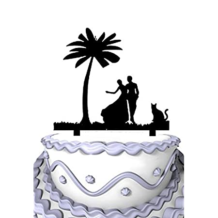 41numoC4myL._SS450_ The Best Palm Tree Wedding Cake Toppers