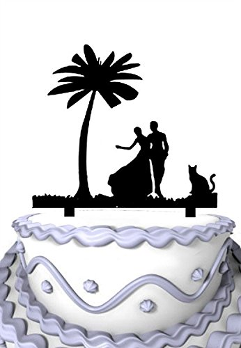 41numoC4myL The Best Palm Tree Wedding Cake Toppers