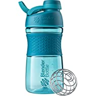 BlenderBottle SportMixer Twist Cap Tritan Grip Shaker Bottle, 20-Ounce, Teal
