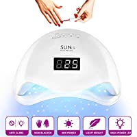 UV Nail Lamp,48W LED Nail Dryer,with Sensor,4 Timer Setting for Gel Fingernails Toenails,LED Display,Professional Nail Polish Curing Light Suitable for Novices,Home and Salon,Detachable Magnetic Tray