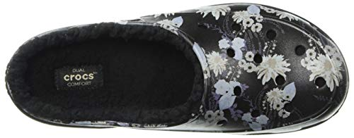 Graphic Clog Women's Black floral Crocs Freesail Lined EwUx0CqC