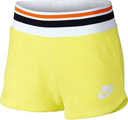 Knit Nike Womens Shorts - Nike Women's Archive Soft French Terry Cotton Training Workout Shorts with Pockets (Lt Zitron/Medium)