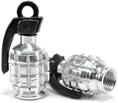 Kapsco Moto Motorcycle Black Tire Wheel Grenade Valve Caps For Suzuki Boulevard M109R C109R C50 C90 S40 S50 S83