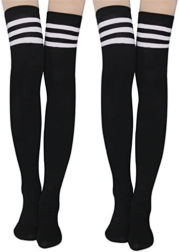 Womens Stripe Knee High Socks Stockings product image