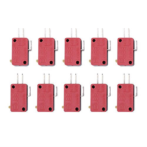 Red 3Pins Push Button Micro Switch Replacement for Arcade Game 10Pcs by ZJchao