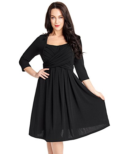 Ruched Little Black Dress - 3
