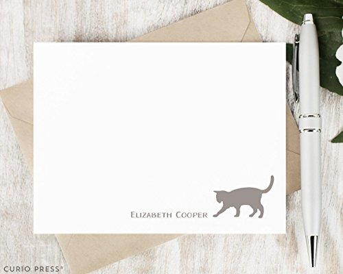 CAT - Personalized Flat Cute Animal Stationery/Stationary -