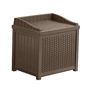 SSW1200 Mocha Resin Wicker 22- Gallon Storage Seat