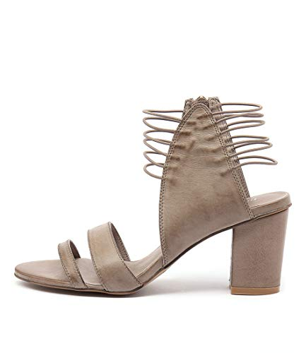 DJANGO & JULIETTE ANN Taupe Womens Shoes High Heels Sandals TAUPE LEATHER ELASTIC