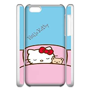 iphone5c 3D Cell Phone Case White HELLO KITTY Plastic Durable Cover Cases derf6984889