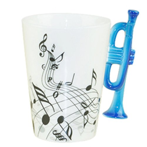 (Choholete Porcelain Trumpet Music Black Stave Coffee Cup 6#)