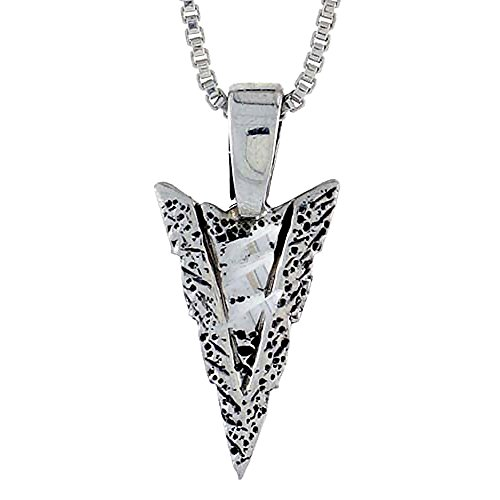 Sterling Silver Arrowhead Pendant, 3/4 inch tall
