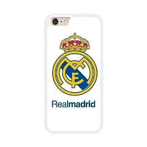 Real Madrid U8I7SW5T Caso funda iPhone 6 Plus 5.5 pulgadas del teléfono celular blanco