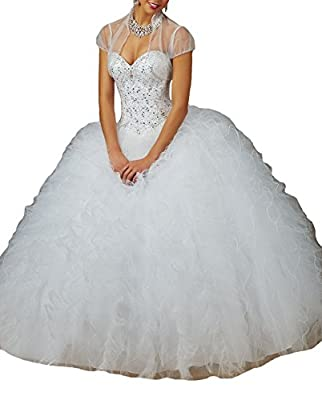 Jurong Women's Wedding Dress Dress Ball Gowns Beads Wedding Quinceanera Dresses